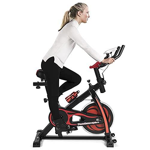 WEUN Bicicleta de ejercicio para interiores, bicicleta estática con monitor LCD para entrenamiento en casa, bicicleta de entrenamiento, correa silenciosa, soporte de hasta 350 libras