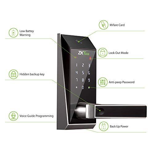 ZKTeco AL10DB Serrure à code clé serrure connecté poignée de