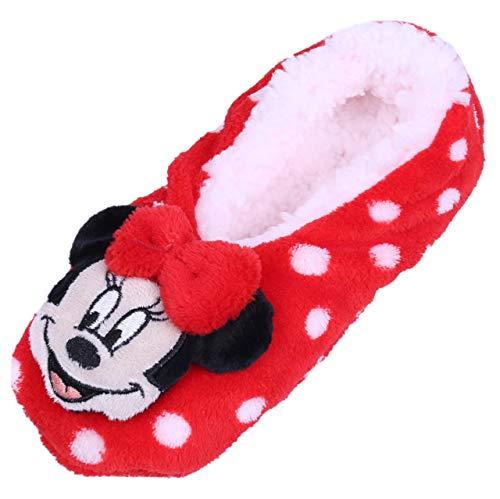 Rote Hausschuhe/Schlapfen mit Punkten Minnie Mouse 26.5/30.5 EU