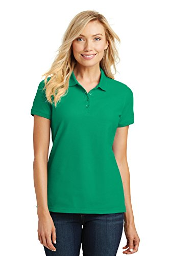 Port Authority Ladies Core Classic Pique Polo. L100 Bright Kelly Green M
