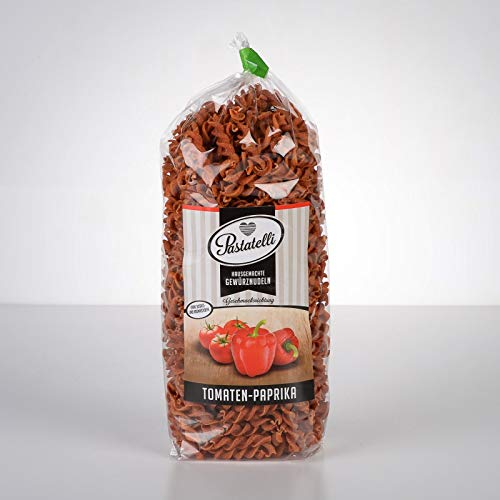 Pastatelli Paprika-Tomaten-Nudeln ★ Paprika-Gewürz-Nudeln ★ ungarisch edelsüß mild ★ - Kinder-Nudeln ★ Kinder-Pasta Vegan