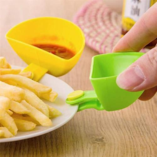 FORHOME 3 STKS Verschillende kruiden Suiker Salade Tomaat Plakken Chip Saus Gerechten Ketchup Keuken Bowls Dip Kruiden Schaal met Kleine Clip Groen