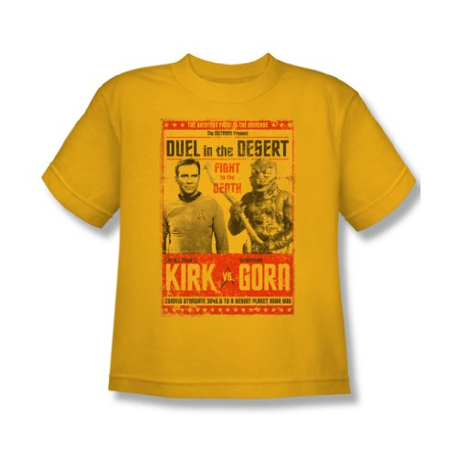 Star Trek - Jugend Duel In The Desert T-Shirt In Gold, X-Large, Gold