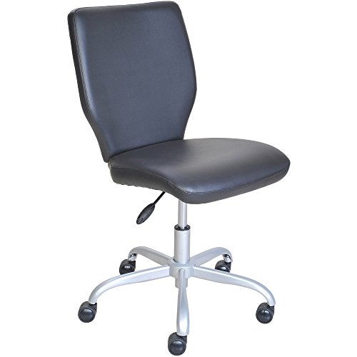 Office Chair with Matching Color Casters (Black)