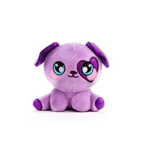 Squeezamals 3Deez, Slow-Rise Foam Stuffed Animals, Purple Dog-Brennan