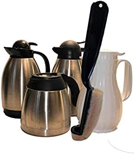 COFFEE DECANTER CLEANING BRUSH LIFETIME GUARANTY, THERMAL INSULATED CARAFE