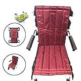 Faltbarer Treppenlift für Patientenlifter, Mobilitätshilfen Gerätetransfer Notevakuierung Rollstuhlriemen-Schleuderscheibe für Senioren, bettlägerig, behindert, Übergewicht