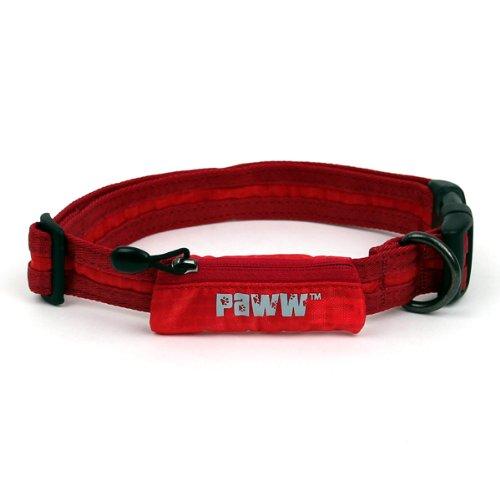 Paww Secret Agent Collar, Large, Red