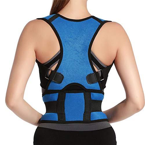 Panegy - Soporte de Espalda Faja de Cintura para Corregir Mala Postura Para Hombre Mujer Unisex Corrección de Columna Vertebral - Azul - M