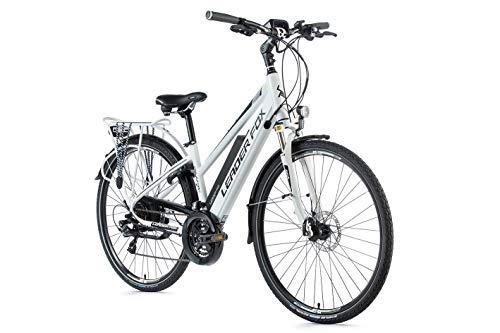 41VzAFo0WQL - 28 Zoll E-Bike Leader Fox Damen Elektro Fahrrad Pedelec 21 Gang Akku USB 46cm hoch