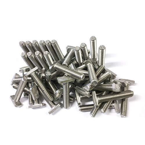 Lot de 200 vis à tête de marteau M10 x 50 en acier inoxydable A2 Solar Photovoltaik type 28/15