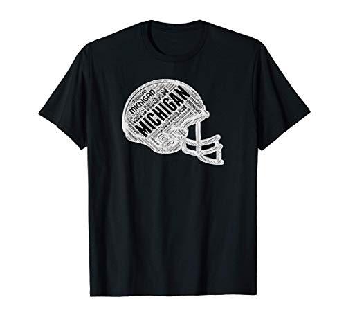 MICHIGAN football helmet. Michigan the wolverine state. MI. T-Shirt
