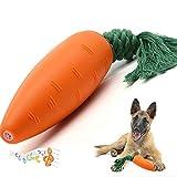 giochi per cani,masticare giocattoli per cuccioli,giocattoli per la corda per la pulizia della dentizione del carota per piccoli medio grande cani (rosso)