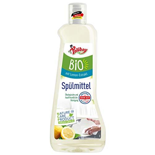 Poliboy – Detergente biológico – Limpia a fondo y suavemente accesorios de cocina y vajilla, vegano – 500 ml – Fabricado en Alemania