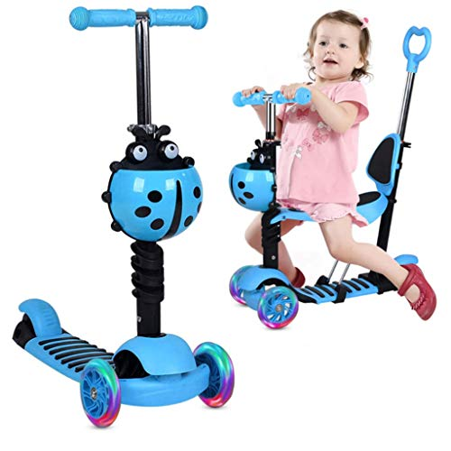 TOYS 5-In-1 Kleinkinder Roller Scooter 3-Räder -Tretroller, Roller Für Kinder Kinderscooter Laufrad Mit...