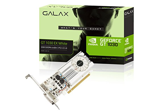 GALAX GeForce® GT 1030 EX White 2GB SDDR4 64-bit HDMI 2.0b/DVI-D Graphic Card