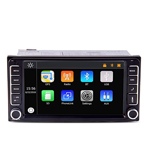 7 Inch 2 Din In-dash Car Stereo Radio GPS Navigation Touch Screen Audio 1080P Video BT Phone Easylink Car Player Fit for Toyota RAV4 Corolla Camry Tundra 4Runner Previa Highlander Yaris Prado Hilux