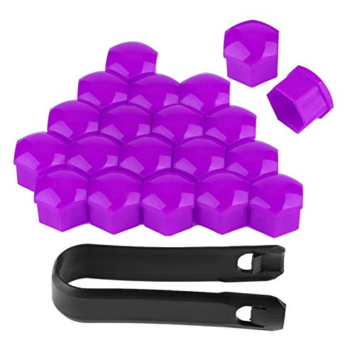 Tapones para tuercas de rueda de coche, tuercas de coche antioxidantes, nailon de calidad Pa66 Fácil de instalar Resistente y duradero para todos Tornillo(purple)