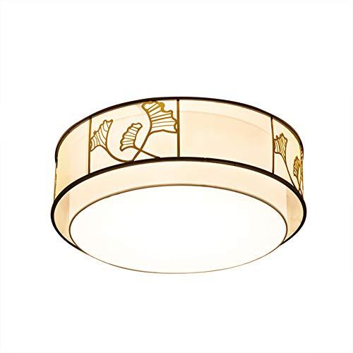 E27 Im chinesischen stil flush mount Deckenlampe Leuchte, Trommel-runde stoffschirm tuch Deckenlampe Schlafzimmer-Runden D:60cm(23.6in) XH:26cm(10.2in)