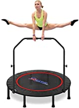 49'' Silent Foldable Trampoline, Exercise Fitness Trampoline with Higher 52