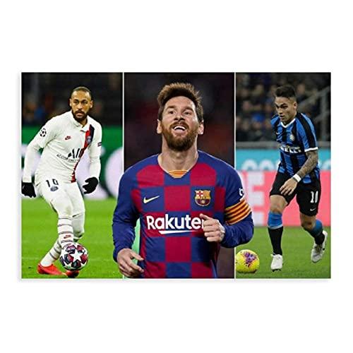 Lionel Messi MSN Neymar Suarez, The Joy of Victory - Póster de lona para decoración de dormitorio, paisaje, oficina, habitación, regalo, estilo Unframe, 40 x 60 cm