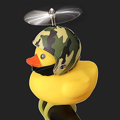 SwetLao Kids Bike Bell, Duck Bicycle Horn with Bike Light, Squeeze Horn Loud Quack Sound, Cycling Light Cute Rubber Duck Toy for Toddler Kids Girls Boys Adult