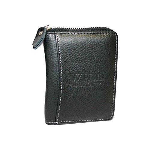 Bag Street Geldbörse mit Reißverschluss Leder WILD 5508, 41 EU, Schwarz