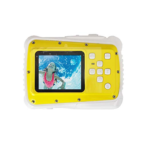 "Boliaman Kids Underwater Camera, Waterproof Kids Camera Best Gifts for Girls/Boys 21MP HD Underwater Digital Camera with 2.0"" LCD, 8 X Digital Zoom, Flash and Mic - Yellow"