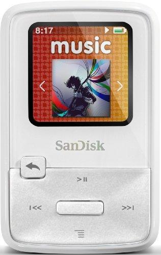SanDisk Sansa Clip Zip MP3-Player 4GB (2,8 cm (1,1 Zoll) Display, Radio) weiß