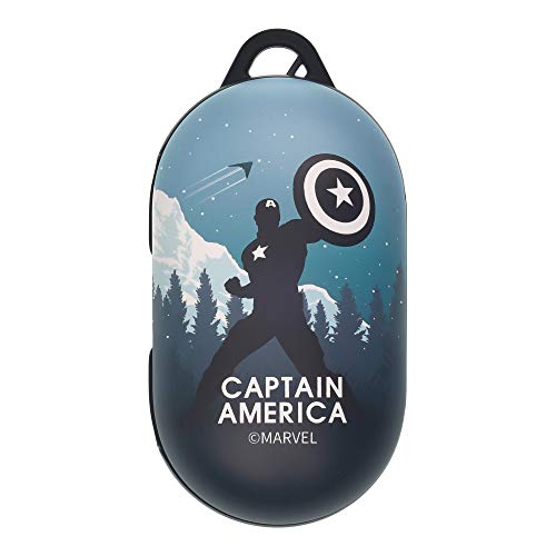 Avengers Galaxy Buds Case Protective Hard PC Shell Cover Compatible with Galaxy Buds & Galaxy Buds Plus (Buds+) - Shadow Captain America