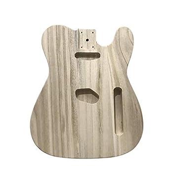 Muslady DIY Guitar Body Polished Wood Type Electric Guitar Barrel DIY Maple For TL Style Guitar