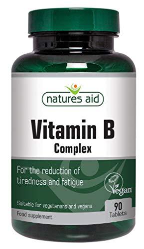 Natures Aid Vitamin B Complex, Suitable for Vegans, 90 Tablets