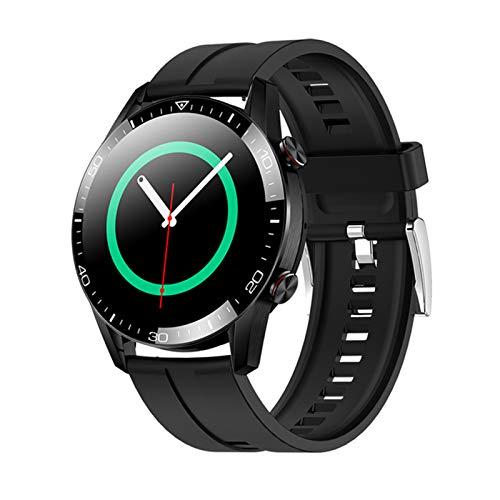 ZGLXZ Reloj Inteligente De La Banda De Acero De Los Hombres, La Ritmo Cardíaco para Hombres IP68, La Pantalla Táctil Completa Impermeable, El Reloj Inteligente De Lujo para Android iOS,D