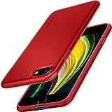 Spigen Funda Thin Fit Pro Compatible con iPhone SE 2020, Compatible con iPhone 8 y Compatible con iPhone 7 - Rojo