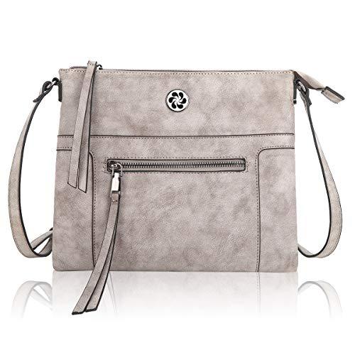 Angel Kiss Umhängetasche Damen Handtaschen Mädchen Schultertasche Schultertasche aus echtem Leder Mode Geldbörsen für Party Reise Outdoor Täglich - Grau