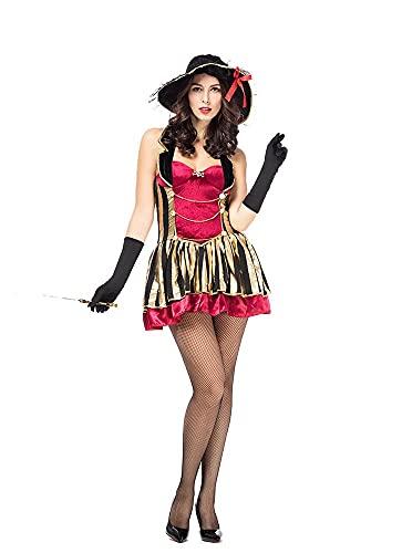 Jilibaba Disfraz de bruja pirata sexy para mujer, disfraz de Halloween, cosplay, fiesta, talla nica