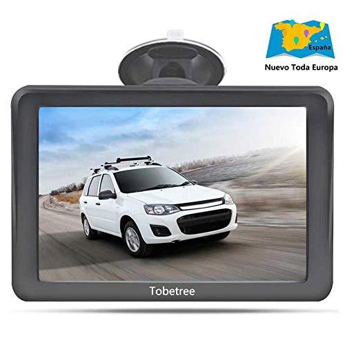 Tobetree MT988 - GPS Coches, 7 Pulgadas Navegador GPS para Coche con Bluetooth Gratis de Mapa de Europa Toda la...