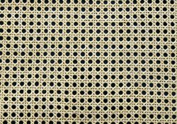 fitalia Wabengeflecht 8-Eck/Wiener Geflecht 90cm breit, aus Stuhlflechtrohr, Halbglanz mit Schale