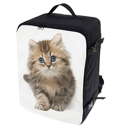 Multifunktions Handgepäck Rucksack gepolstert Flugzeugtasche Handtasche Reisetasche Rucksack gepolstertkoffer für Flugzeug Größe 40x30x20cm Katze [102]