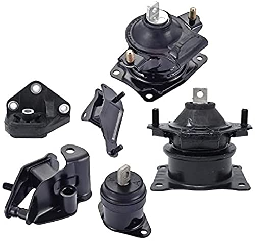 ENA Engine Motor and Trans Mount Set of 6 Compatible with Honda 2003 2004 2005 2006 2007 Accord 2.4L Automatic Trans Replacement for A4526HY A4517 A4516 A4510 A4509 A4542