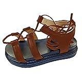 Beudylihy Sandalias romanas con cordones, de verano, para mujer, sandalias de serpientes, plataforma, con correa cruzada, tobillos, puntiagudas, para la playa, fiestas, para mujer, color, talla 40 EU