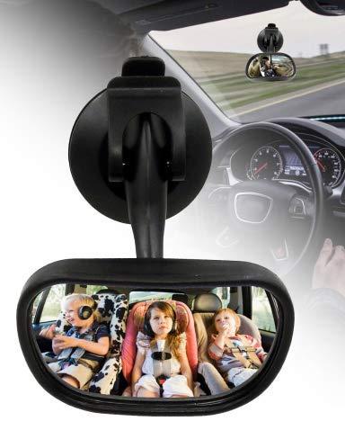 Rücksitzspiegel, Spiegel Auto Baby, vergrößert gebogener Spiegel Baby