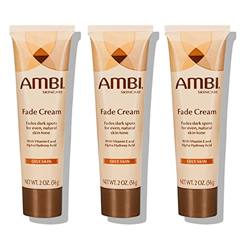 Ambi Skincare Fade Cream for Oily Skin   Dark Spot Remover for Face and Body   Treats Skin Blemishes & Discoloration   Improves Hyperpigmentation - Pack of 3