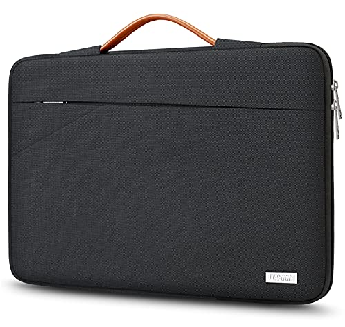 TECOOL 14 Inch Laptop Sleeve Protective Case Cover with Handle and Pockets for 14 Inch HP Lenovo Thinkpad Ideapad Dell Acer ASUS Chromebook Notebook Water-resistant Computer Bag, Black