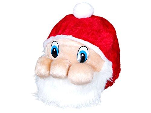 Alsino Weihnachtsmütze Nikolausmütze mit Gesicht (wm-87) - fröhlicher Nikolaus 3D Mütze für Erwachsene