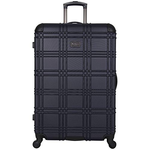 Ben Sherman Nottingham Lightweight Hardside 4-Wheel Spinner Travel Luggage, Navy, 28-inch Checked