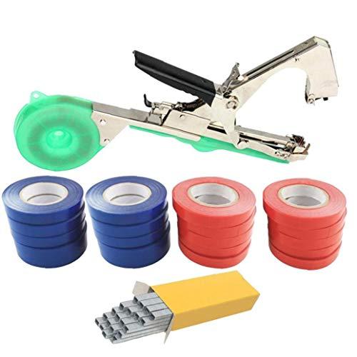 Vineyard Werkzeug Garten Rebe Bindebandpflanzenbindeband-Werkzeug mit Nail-Set für Obst, Blume, Rankenpflanze Tomate