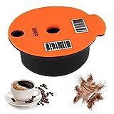 KUANPEY Filtro de café reutilizable cápsulas de café rellenables Cápsula de café conveniente máquina de café accesorio herramienta (7,4 x 6,8 x 3 cm)