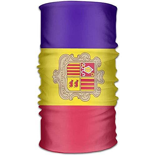 Nationale Vlag Van Andorra Nek Gaiter Magic Hoofddeksels Hoofdband Gezicht Bandana Masker Sport Sjaal Neckwarmer Hoofddoek voor Vrouwen Mannen