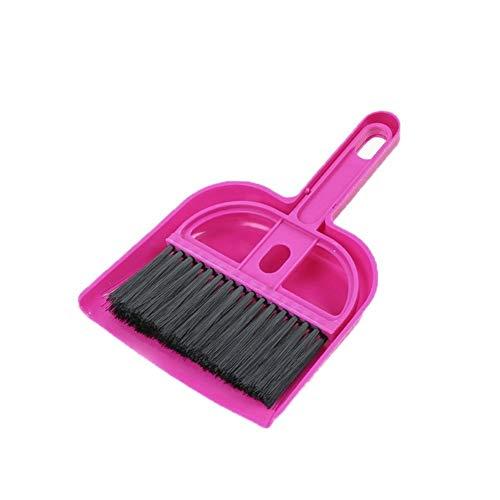 Nmyz Recogedor 1 PC de Escritorio Barrido Mini Cepillo de Limpieza del hogar Pequeño Escoba recogedor Conjunto Limpiador for Pisos Pincel de Limpieza Plegable (Color : Pink)